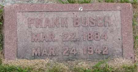 BUSCH, FRANK - Stanton County, Nebraska | FRANK BUSCH - Nebraska Gravestone Photos