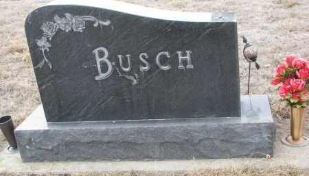 BUSCH, PLOT STONE - Stanton County, Nebraska   PLOT STONE BUSCH - Nebraska Gravestone Photos
