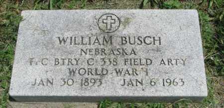 BUSCH, WILLIAM - Stanton County, Nebraska | WILLIAM BUSCH - Nebraska Gravestone Photos