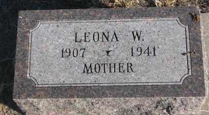 BUSS, LEONA W. - Stanton County, Nebraska | LEONA W. BUSS - Nebraska Gravestone Photos