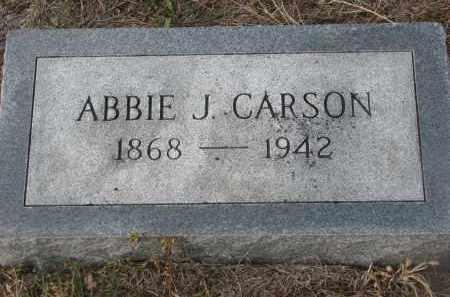 CARSON, ABBIE J. - Stanton County, Nebraska | ABBIE J. CARSON - Nebraska Gravestone Photos