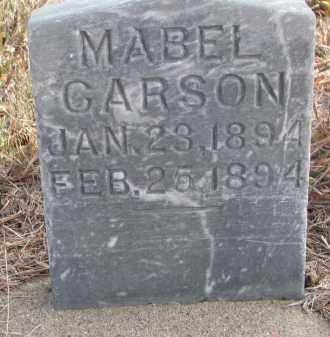 CARSON, MABEL - Stanton County, Nebraska   MABEL CARSON - Nebraska Gravestone Photos