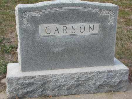 CARSON, PLOT STONE - Stanton County, Nebraska | PLOT STONE CARSON - Nebraska Gravestone Photos