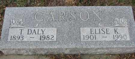 CARSON, ELISE K. - Stanton County, Nebraska | ELISE K. CARSON - Nebraska Gravestone Photos