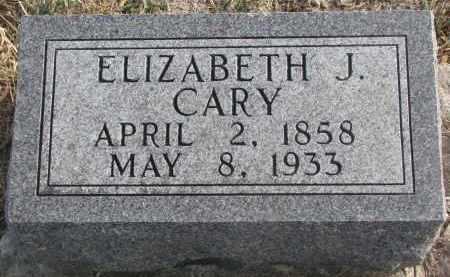 CARY, ELIZABETH J. - Stanton County, Nebraska | ELIZABETH J. CARY - Nebraska Gravestone Photos
