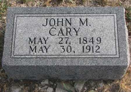 CARY, JOHN M. - Stanton County, Nebraska | JOHN M. CARY - Nebraska Gravestone Photos
