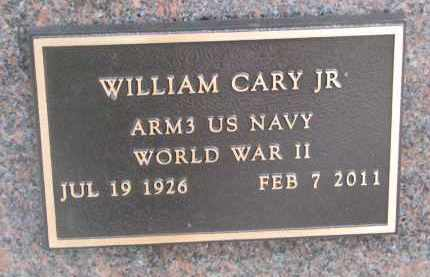 CARY, WILLIAM JR. (WW II) - Stanton County, Nebraska | WILLIAM JR. (WW II) CARY - Nebraska Gravestone Photos