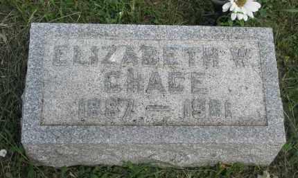 CHACE, ELIZABETH W. - Stanton County, Nebraska | ELIZABETH W. CHACE - Nebraska Gravestone Photos