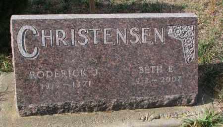 CHRISTENSEN, RODERICK J. - Stanton County, Nebraska | RODERICK J. CHRISTENSEN - Nebraska Gravestone Photos