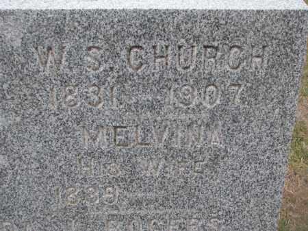 CHURCH, W.S. & MELVINA (CLOSEUP) - Stanton County, Nebraska | W.S. & MELVINA (CLOSEUP) CHURCH - Nebraska Gravestone Photos