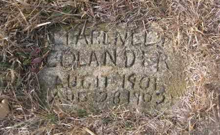 COLANDER, CLARENCE - Stanton County, Nebraska | CLARENCE COLANDER - Nebraska Gravestone Photos