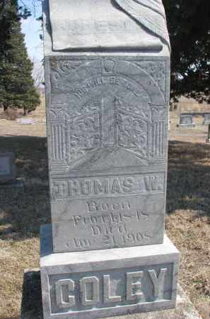 COLEY, THOMAS W. - Stanton County, Nebraska | THOMAS W. COLEY - Nebraska Gravestone Photos