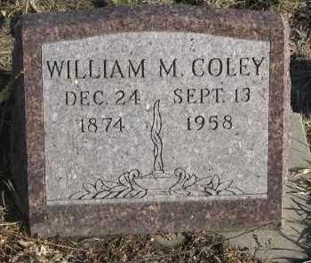 COLEY, WILLIAM M. - Stanton County, Nebraska   WILLIAM M. COLEY - Nebraska Gravestone Photos