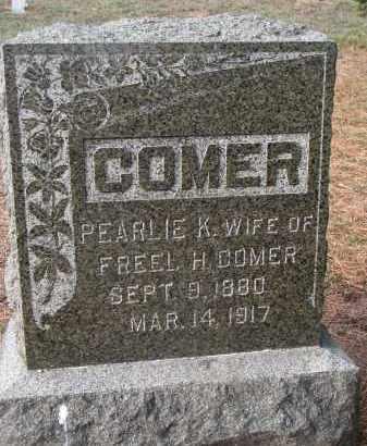 COMER, PEARLIE K. - Stanton County, Nebraska | PEARLIE K. COMER - Nebraska Gravestone Photos
