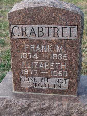 CRABTREE, ELIZABETH - Stanton County, Nebraska | ELIZABETH CRABTREE - Nebraska Gravestone Photos