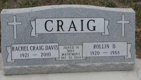 CRAIG, ROLLIN D. - Stanton County, Nebraska | ROLLIN D. CRAIG - Nebraska Gravestone Photos