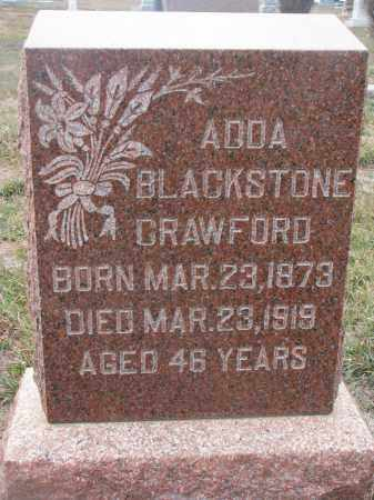 BLACKSTONE CRAWFORD, ADDA - Stanton County, Nebraska | ADDA BLACKSTONE CRAWFORD - Nebraska Gravestone Photos