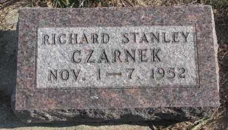 CZARNEK, RICHARD STANLEY - Stanton County, Nebraska   RICHARD STANLEY CZARNEK - Nebraska Gravestone Photos