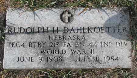 DAHLKOETTER, RUDOLPH H. - Stanton County, Nebraska   RUDOLPH H. DAHLKOETTER - Nebraska Gravestone Photos