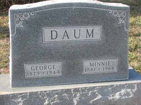 DAUM, GEORGE - Stanton County, Nebraska | GEORGE DAUM - Nebraska Gravestone Photos