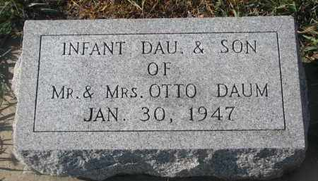 DAUM, INFANT SON - Stanton County, Nebraska | INFANT SON DAUM - Nebraska Gravestone Photos