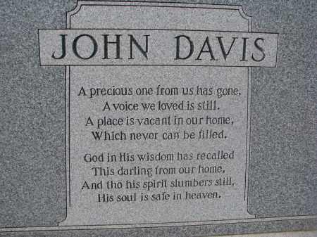 DAVIS, JOHN (CLOSEUP) - Stanton County, Nebraska | JOHN (CLOSEUP) DAVIS - Nebraska Gravestone Photos