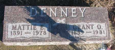 DENNEY, GRANT O. - Stanton County, Nebraska   GRANT O. DENNEY - Nebraska Gravestone Photos