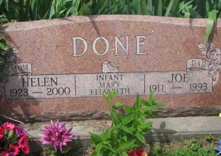 DONE', MARY ELIZABETH - Stanton County, Nebraska | MARY ELIZABETH DONE' - Nebraska Gravestone Photos