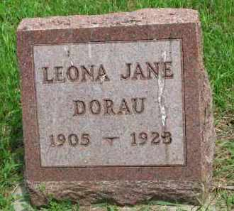 DORAU, LEONA JANE - Stanton County, Nebraska | LEONA JANE DORAU - Nebraska Gravestone Photos
