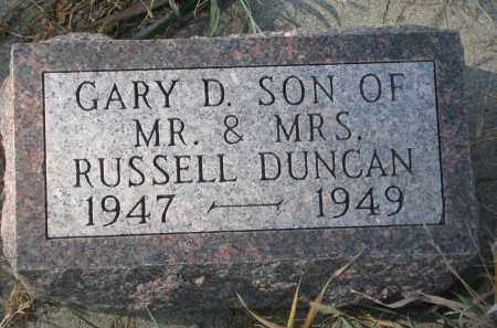 DUNCAN, GARY D. - Stanton County, Nebraska | GARY D. DUNCAN - Nebraska Gravestone Photos