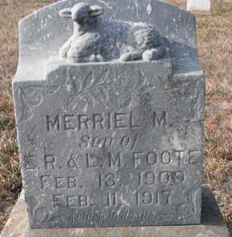 FOOTE, MERRIEL M. - Stanton County, Nebraska   MERRIEL M. FOOTE - Nebraska Gravestone Photos
