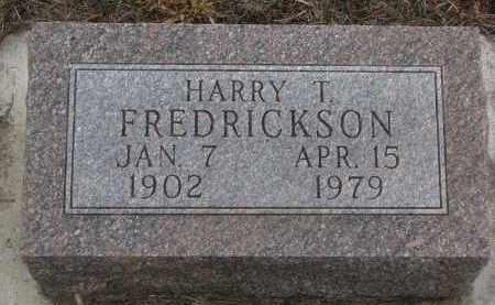 FREDRICKSON, HARRY T. - Stanton County, Nebraska   HARRY T. FREDRICKSON - Nebraska Gravestone Photos