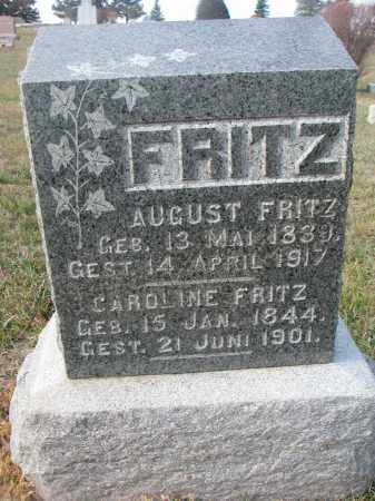 FRITZ, AUGUST - Stanton County, Nebraska | AUGUST FRITZ - Nebraska Gravestone Photos
