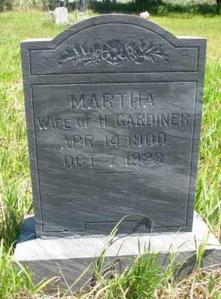 GARDINER, MARTHA - Stanton County, Nebraska   MARTHA GARDINER - Nebraska Gravestone Photos
