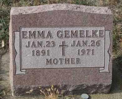 GEMELKE, EMMA - Stanton County, Nebraska | EMMA GEMELKE - Nebraska Gravestone Photos