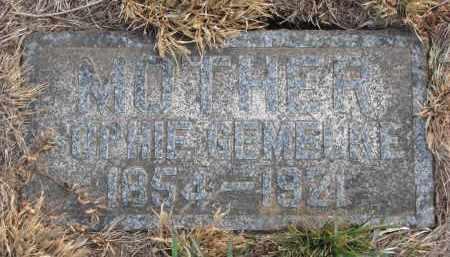 GEMELKE, SOPHIE - Stanton County, Nebraska | SOPHIE GEMELKE - Nebraska Gravestone Photos