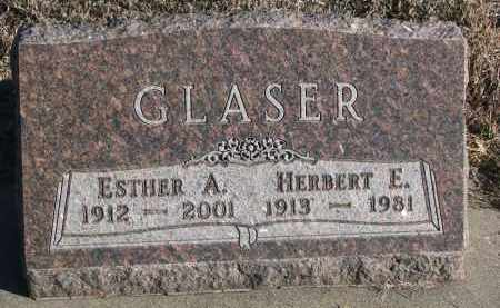 GLASER, ESTHER A. - Stanton County, Nebraska | ESTHER A. GLASER - Nebraska Gravestone Photos