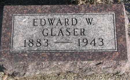 GLASER, EDWARD W. - Stanton County, Nebraska | EDWARD W. GLASER - Nebraska Gravestone Photos