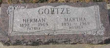 GOETZE, HERMAN - Stanton County, Nebraska   HERMAN GOETZE - Nebraska Gravestone Photos