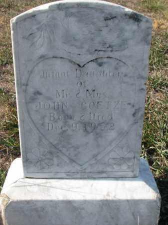 GOETZE, INFANT DAUGHTER - Stanton County, Nebraska | INFANT DAUGHTER GOETZE - Nebraska Gravestone Photos