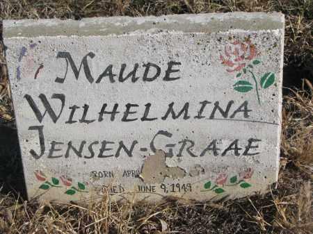 JENSEN GRAAE, MAUDE WILHELMINA - Stanton County, Nebraska | MAUDE WILHELMINA JENSEN GRAAE - Nebraska Gravestone Photos