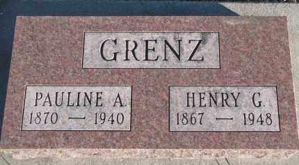GRENZ, HENRY G. - Stanton County, Nebraska | HENRY G. GRENZ - Nebraska Gravestone Photos