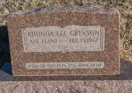 GREVSON, RHONDA LEE - Stanton County, Nebraska | RHONDA LEE GREVSON - Nebraska Gravestone Photos
