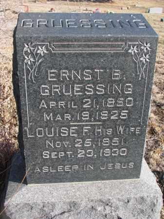 GRUESSING, ERNST B. - Stanton County, Nebraska | ERNST B. GRUESSING - Nebraska Gravestone Photos