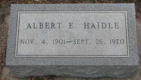 HAIDLE, ALBERT E. - Stanton County, Nebraska | ALBERT E. HAIDLE - Nebraska Gravestone Photos