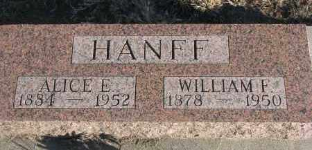 HANFF, WILLIAM F. - Stanton County, Nebraska | WILLIAM F. HANFF - Nebraska Gravestone Photos