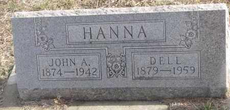 HANNA, JOHN A. - Stanton County, Nebraska   JOHN A. HANNA - Nebraska Gravestone Photos