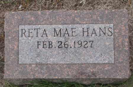 HANS, RETA MAE - Stanton County, Nebraska   RETA MAE HANS - Nebraska Gravestone Photos