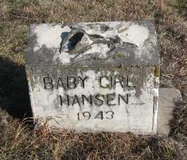 HANSEN, BABY GIRL - Stanton County, Nebraska | BABY GIRL HANSEN - Nebraska Gravestone Photos