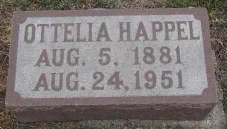 HAPPEL, OTTELIA - Stanton County, Nebraska | OTTELIA HAPPEL - Nebraska Gravestone Photos